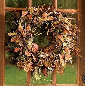 Autumn wreaths for front door