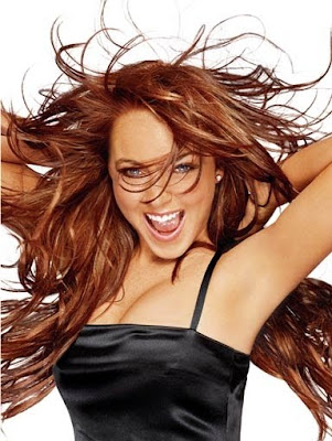 brown red hair lindsay lohan. lindsay lohan long rown hair