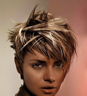 Short Blonde Hair With Red Highlights. Dye Brown Hair Blonde