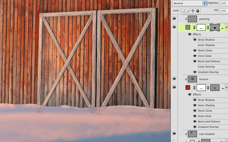 Every barn needs doors right? Make them with the Rectangle tool on a new Shape layer but donu0027t clip this one along with the other barn layers. & Digital Illustration with Adobe Photoshop CC Extended: Starting ... pezcame.com