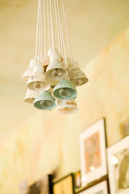Shabby Cottage Teacup Chandeliers, Tea Cup Night Lights and Tea