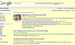 Image of Google news search for Vivek Kundra