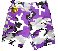purple camo shorts