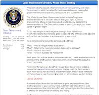 Open Government Initiative web site