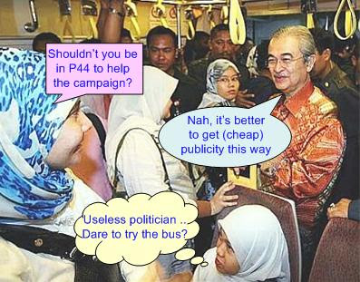Badawi rides LRT