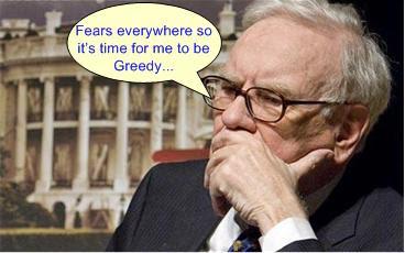 Warren Buffett becomes greedy