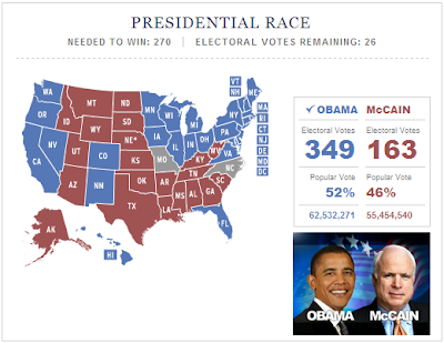Presidential Race Obama McCain