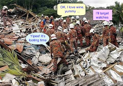 Rescue Personnel Looting