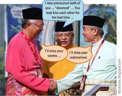 Badawi Najib Divorce