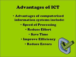 advantages and disadvantages of ict What are the disadvantages of using ict in education the advantages and disadvantages of ict in banking and finance without it we would not be able to use.