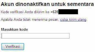 form masukkan kode verifikasi
