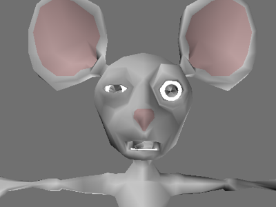 Mouse rendered using real-time graphics