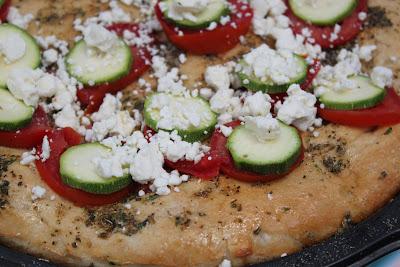 ... Style Cuisine: Focaccia with Zucchini Feta Pomodoro Pizza Recipe