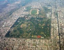 El parque 9 de julio, desde el aire