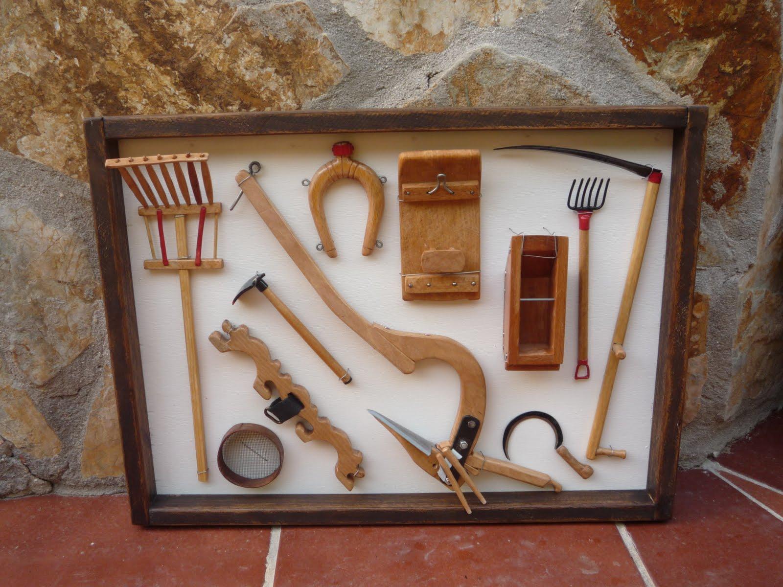 Aperos de labranza en miniatura cuadros y artesan a en - Aperos agricolas antiguos ...