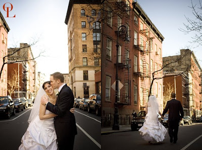 meatpacking district wedding, Pastis new york, wedding photos new york, portrait new york landmark