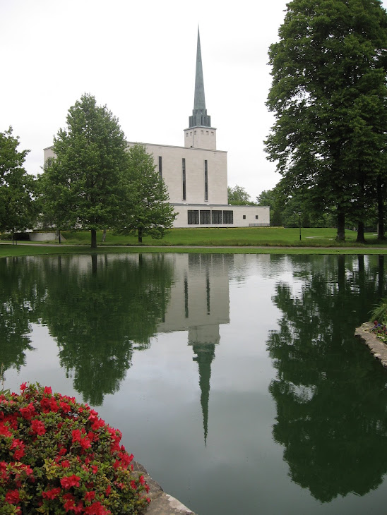 The London England Temple Reflecting Pool