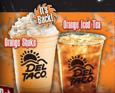 Del Taco Orange Shake
