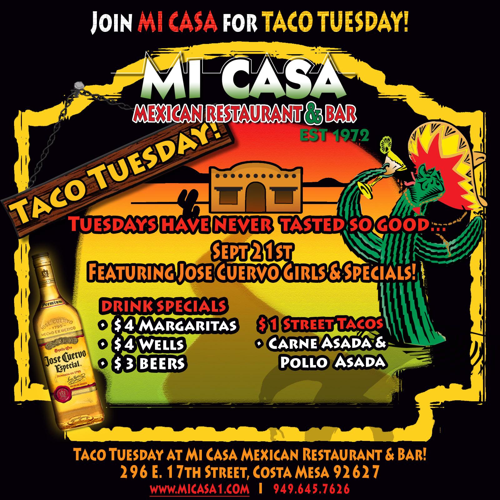 Taco Tuesday Orange County Mexican Restaurants