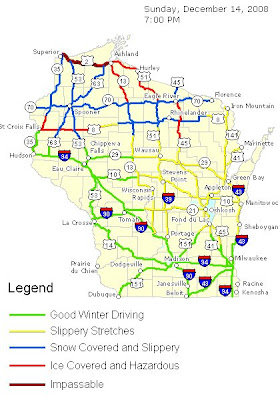 Wi Winter Road Conditions Map on