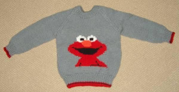 Elmo Knitting Pattern : KnitAssassin: Elmo Sweater