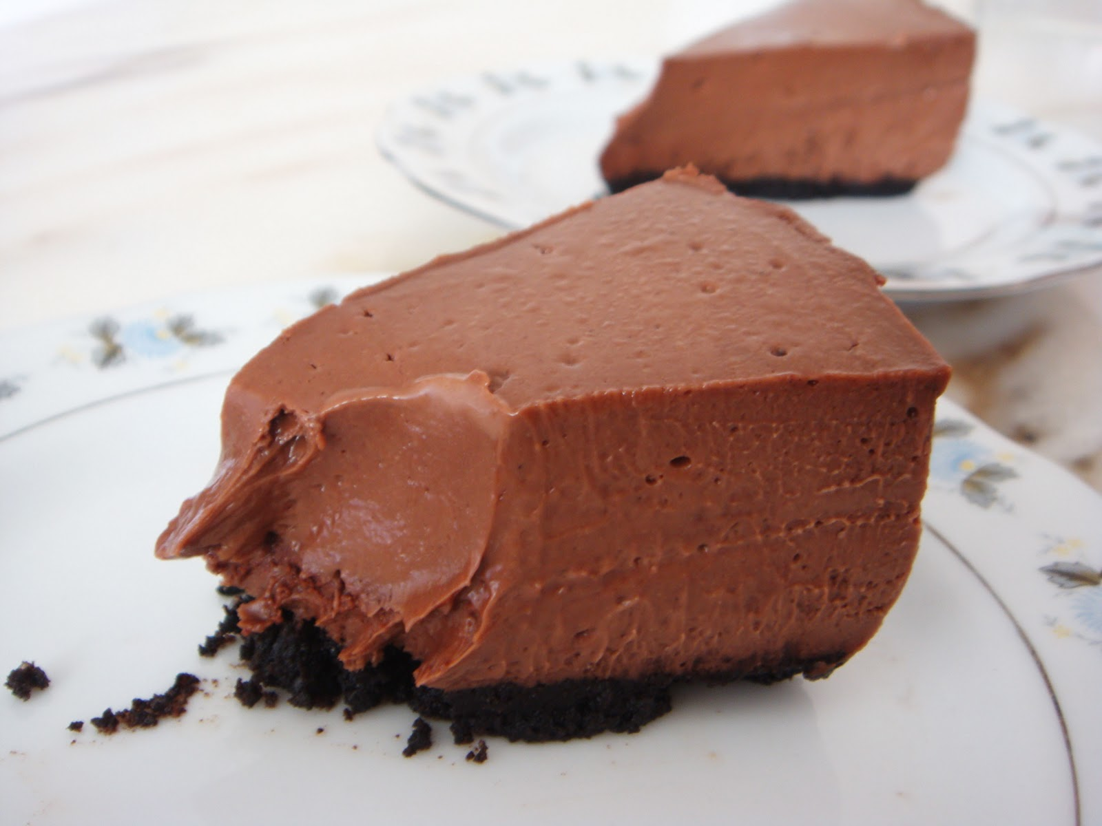 meant as a Chocolate cheesecake turned out to be a Mocha Cheesecake ...