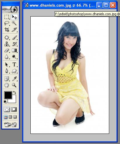 Photoshop di komputer anda dengan mengklik start-program-photoshop ...