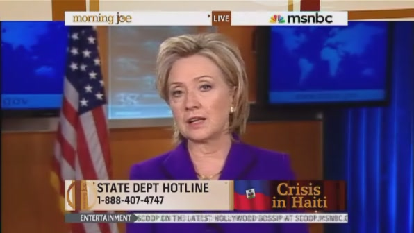 HRC Secretary of State Morning Joe interview Haiti
