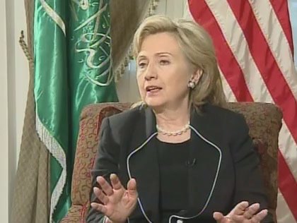 HRC Secretary of State interview Saudi Arabia Voice of America video