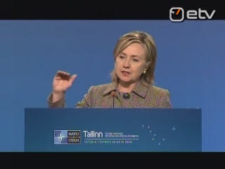 Secretary of State Hillary Clinton press conference, NATO, Tallinn, Estonia, 2010
