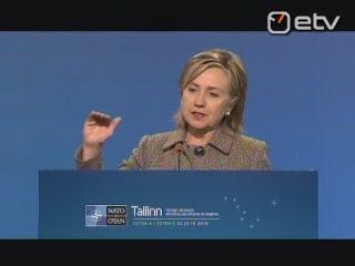 Secretary of State Hillary Clinton press conference, NATO, Tallinn, Estonia, 2010