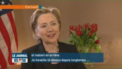 HRC Secretary of State interview Brussels Belgium Europe RTL