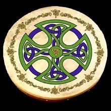 Bodhran c/ pintura celta.