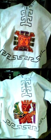 Batas e camisas ritualisticas.