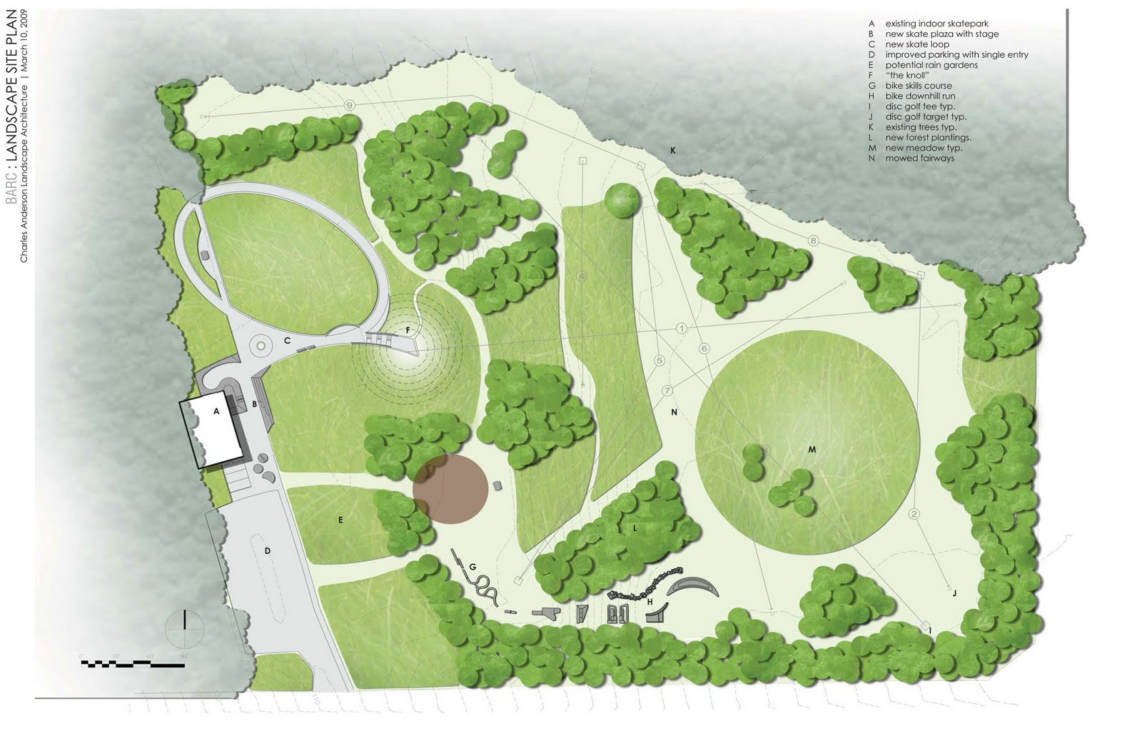 Site Plan Trees