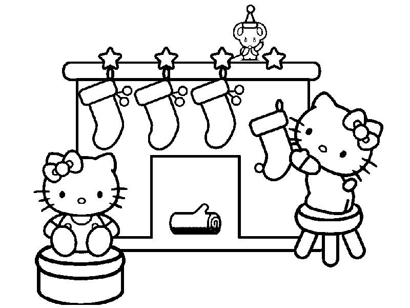 Rotuladores y l pices dibujos para colorear dibujos para colorear hello kitty - Kitty noel coloriage ...