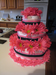 Girly Diaper Cake