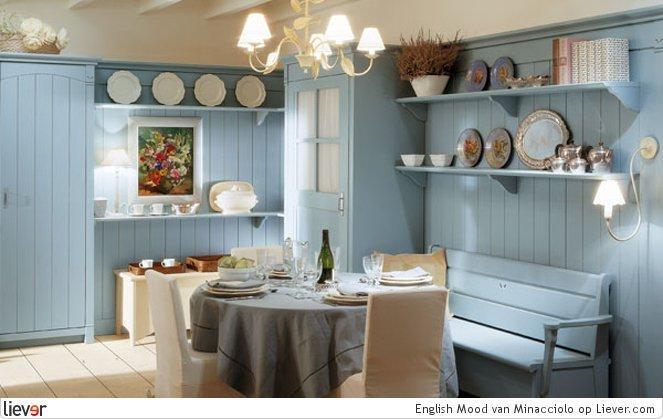Keuken Licht Blauw : Landelijke Keuken