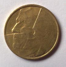 Belgium 5 Francs Front View
