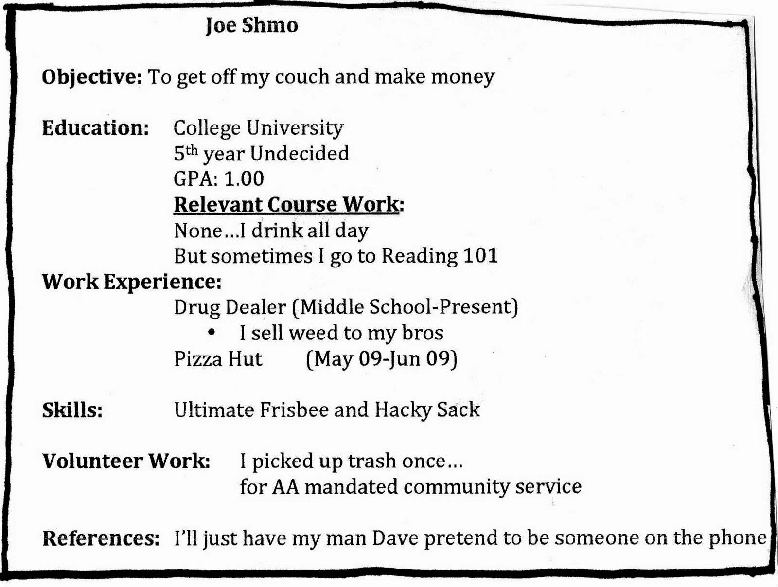 What My Resume Should Look Like Zrom