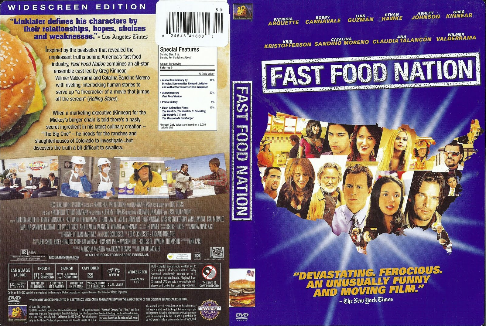 what fast food nation and super Fault lines s2010 • e23 🇺🇸 fast food, fat profits:  super size me, and fast food nation  9:05 fast food nation (2006) movie - greg kinnear & bruce willis & catalina sandino .