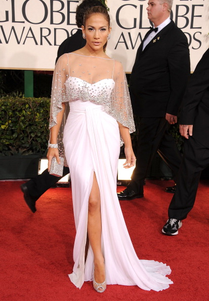 Jennifer Lopez looked really good in this dress, but I am not so sure how I
