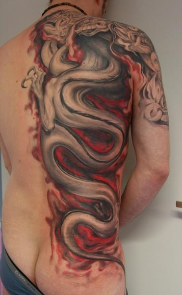 japanese dragon tattoo gallery. Japanese Dragon tattoos can be