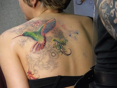 Hummingbird tattoos for women are basically represent joy and happiness