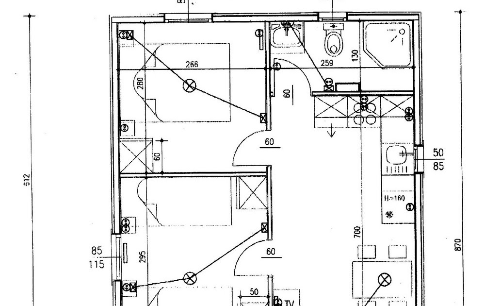 Electricidad plano electrico de vivienda - Planos de una vivienda ...