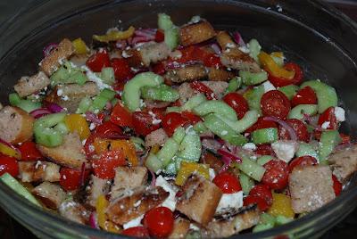 Unsifted greek panzanella salad Barefoot contessa panzanella