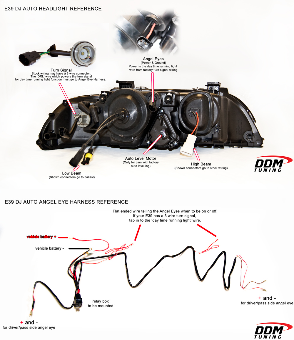 E39HELLASM bmw e39 headlight ddm tuning retrofit ~ deutsh power ddm wiring harness at n-0.co