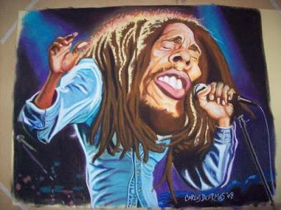 Arte rastafaris pinturas y dibujos mios taringa - Cuadros de bob marley ...