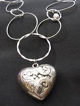 Halsband Silverhjärta