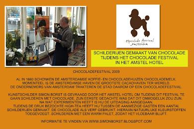 SCHILDEREN MET CHOCOLADE IN HET AMSTEL HOTEL